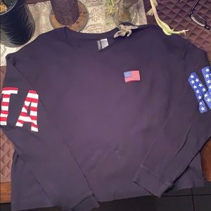 H&M divided thermal top size XL  NWOT